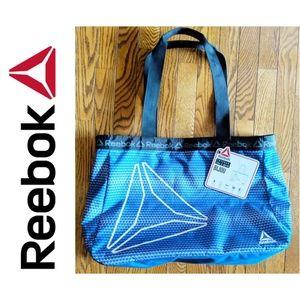 Reebok Bijou Blue and Black Tote Bag, NWT